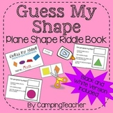 Guess My Shape Plane Shapes Riddle Book Activity