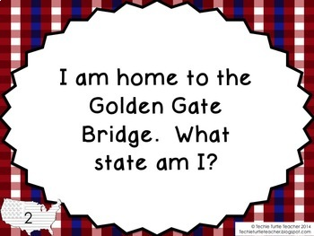Guess My State Trivia Game - PowerPoint with Facts about the 50 States