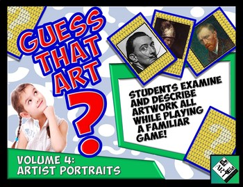 Guess That ART Guess Who Game! Volume 4: Artist Portraits