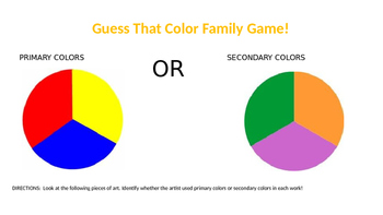Guess That Color Family: Primary & Secondary Colors!