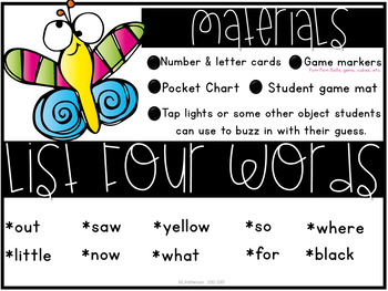 Guess That Sight Word {List Four}
