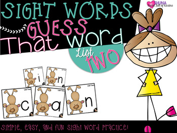 Guess That Sight Word {List Two}