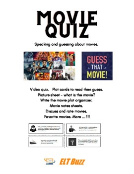 Guess The Movie Cards + Materials