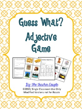 Guess What? Adjective Guess... by The Teacher Couple   Teachers ...