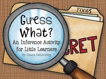 Guess What: An Inference Activity for Little Learners {Foods}