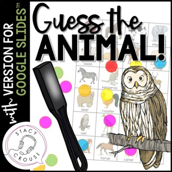 Guess What? Animals! Game for Targeting Questions, Compare/Contrast and Vocab