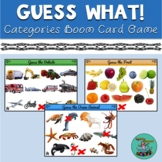 Guess What: Boom card game, categories, 20 questions, Guess Who, speech therapy