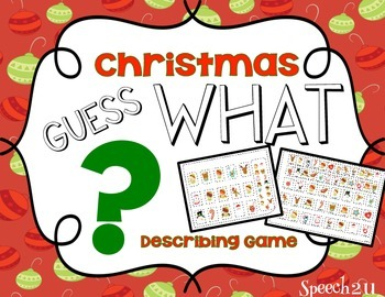 Guess What Christmas FREEBIE