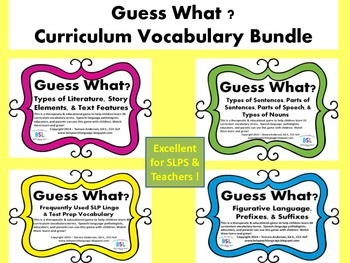 Guess What? Curriculum Vocabulary Bundle