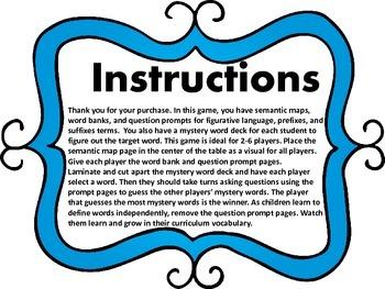 Guess What? Figurative Language, Prefixes, & Suffixes