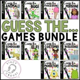 Guess What? Game Bundle for Questions, Compare/Contrast and Vocab