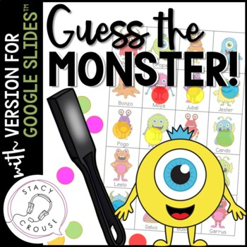 Guess What? Monsters! Game for Questions, Compare/Contrast and Vocab