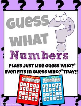 Guess What? Numbers: Plays Just Like Guess Who (Even Fits Game Trays!)