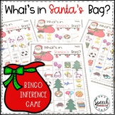 Guess What's in Santa's Bag?  BINGO Inference Activity