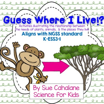 Guess Where I Live! Relationship bet. Animals,Plants & Habitats {NGSS K-ESS3-1}