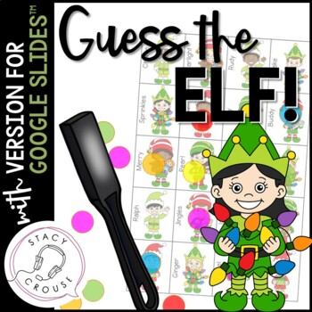 Guess Which Elf! Game for Questions, Compare/Contrast and Vocab