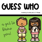 Guess Who. A Guessing Game for Back to School