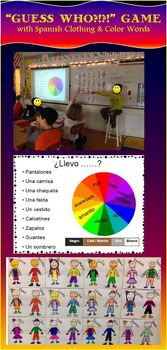 Guess Who?!- A game using Spanish clothing & color words;