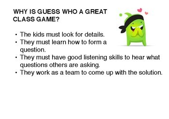 Guess Who Adjective Game