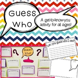 Guess Who! An Open House Activity
