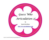 Guess Who! Articulation game inserts 2.0!  9 game sets.