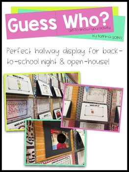 Guess Who? (Back to School/Get to Know You Activity)