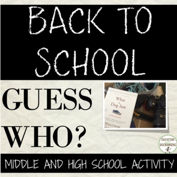 Back to school All About Me Activity for Middle and High School that ROCKS!