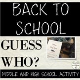 Back to school ice breaker activity middle and high school