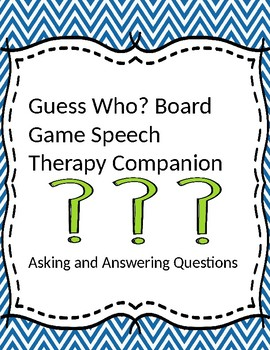 Guess Who Board Game Speech Therapy Companion