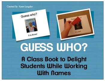 Name Book for Emergent Readers - Guess Who?