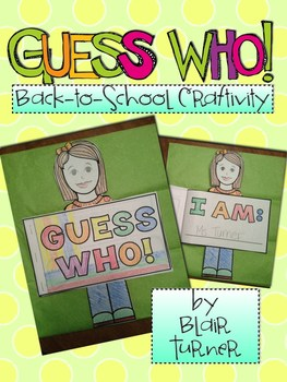 Back to School Activity {Guess Who! Books}