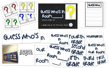 Beginning of the Year Guess Who Game Bulletin Board Template