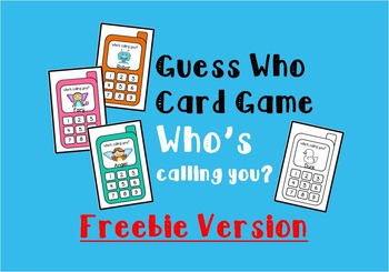 Guess Who Cards - Who's Calling?