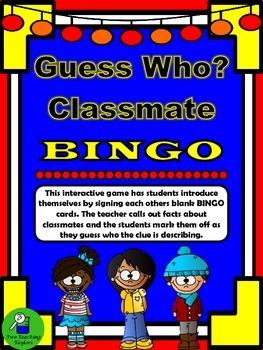 Guess Who? Classmate BINGO