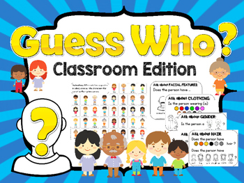 Guess Who - Classroom Edition / Speech Therapy - w/ visual aids