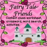 Fairy Tales Activities Context Clues Fairy Tale Friends Worksheets Printables