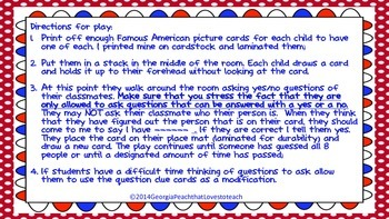 Guess Who? Famous Americans Headbands Game