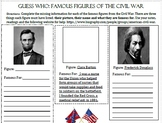 Guess Who: Famous Figures of the Civil War Scavenger Hunt