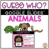 Guess Who? Game (ANIMALS) - DIGITAL {Google Slides™/Classroom™}