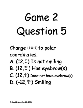 Guess Who Game - All Polar Coordinates Skills