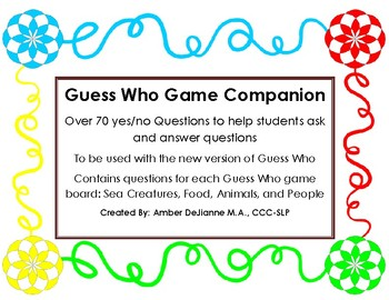 Guess Who- Game Companion for New Version of game