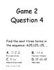 Guess Who Game - Sequences and Series