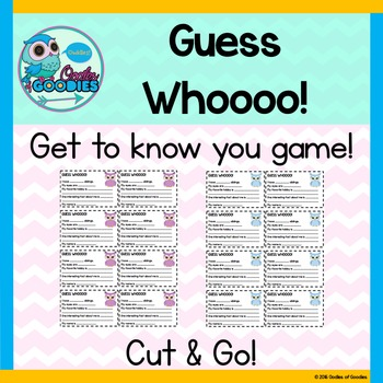 Guess Who - Get to Know You Game