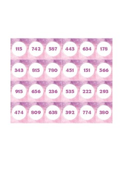 Guess Who - Guess That Number Game - 3-digit number cards 100 - 999