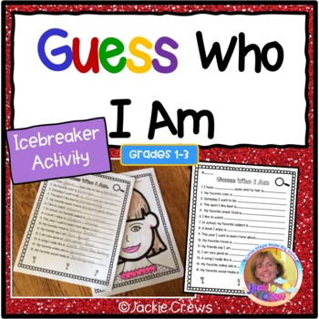 Guess Who I Am Differentiated Icebreaker Activities:
