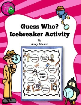 Guess Who? Icebreaker Activity or Bulletin Board Back to School