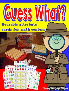 """Guess Who"" Inserts for a Math Center"