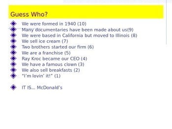 Guess Who? Lesson Starter - Famous Businesses