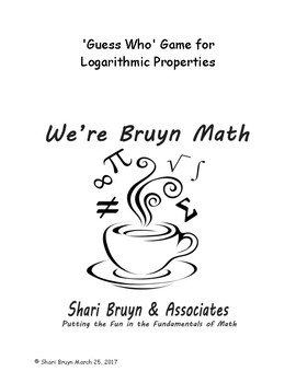Guess Who - Logarithmic Properties