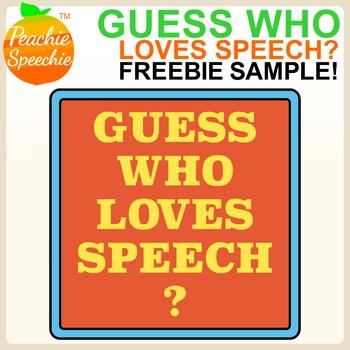 Guess Who Loves Speech? {FREEBIE /k/ SAMPLE}